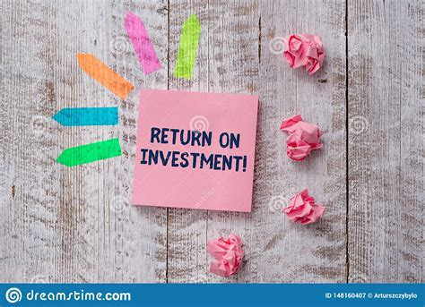 Handwriting Text Writing Return On Investment