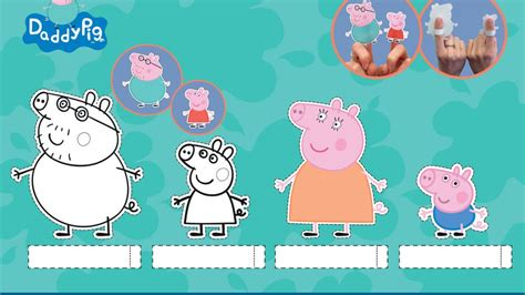 Peppa Pig: Daddy Pig Printable Finger Puppets